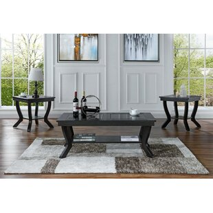 3 Piece Coffee Table Set Alcott Hill