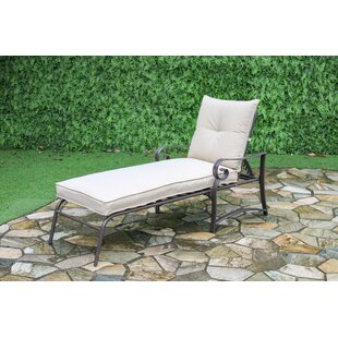 Ophelia & Co. Tony Reclining Chaise Lounge with Cushion (Set of 2)