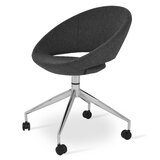 Crescent Upholstered Side Chair in Black (Set of 2) by sohoConcept