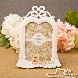 Stunning 50 Years Anniversary Picture Frame