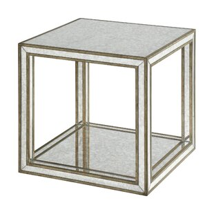 Jayce Mirrored End Table by Rosdorf Park