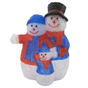 Snowman Family Lighted Display By The Seasonal Aisle