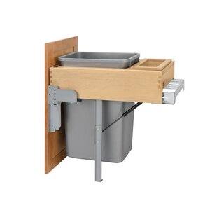Rev-A-Shelf Top Mount 12.5 Gallon Stainless Steel Pull Out/Under Counter Pull Out/Under Counter Trash Can