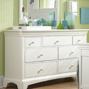Best Reviews Crawfordville 7 Drawer Double Dresser by Harriet Bee