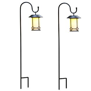 Winsome House Classic Hanging Solar 1-Light Pathway Light (Set of 2)