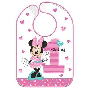 Minnie's Fun To Be One Plastic Disposable Bib