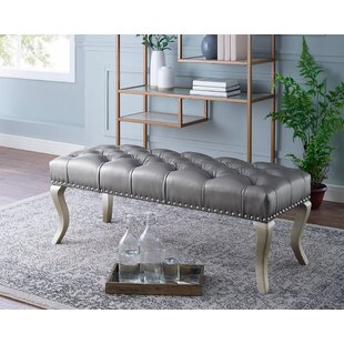 Garza Faux Leather Bench