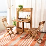 Volk Flower 3 Piece Teak Bistro Set