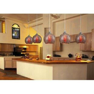 Petti Glass 1-Light Globe Pendant by Wrou..