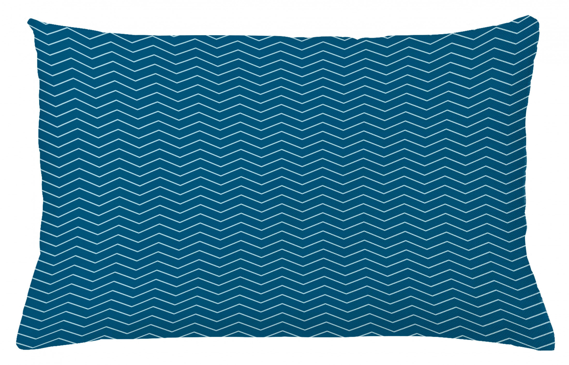East Urban Home Ambesonne Navy Blue Throw Pillow Cushion Cover Horizontal Zigzags Chevron Pattern In Conrtasting Colours Geometrical Decorative Rectangle Accent Pillow Case 26 X 16 Dark Blue Baby Blue Wayfair Ca