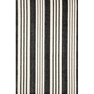 Birmingham Black/Ivory Indoor/Outdoor Area Rug