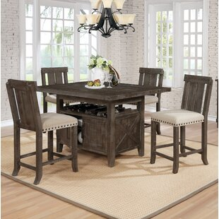 Sevier 5 Piece Counter Height Dining Set by Gracie Oaks