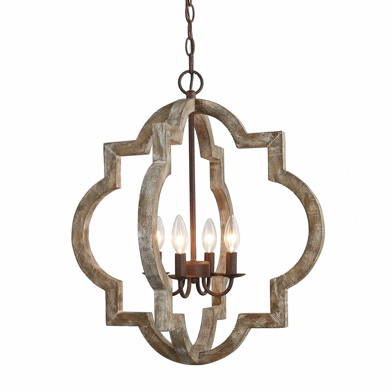 Howle 4 - Light Candle Style Geometric Chandelier