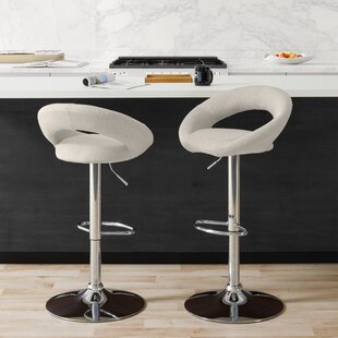 Menard Adjustable Height Bar Stool (Set of 2) Ivy Bronx