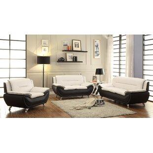 Orren Ellis Jasmin 3 Piece Living Room Set
