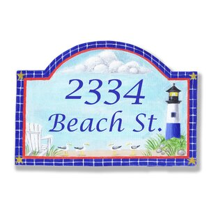 Personalized House 2-Line Wall Address Plaque
