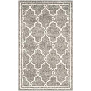 Maritza Geometric Dark Gray/Beige Indoor/Outdoor Area Rug