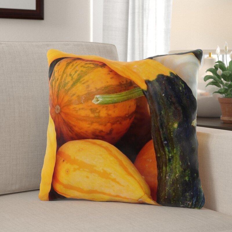 The Holiday Aisle Warrnambool Pumpkin Indoor Outdoor Throw Pillow Wayfair