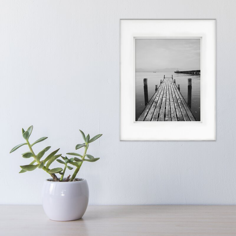 Framatic Fineline Aluminum with Shadow Mat Picture Frame | Wayfair