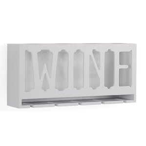 Santos 4 Bottle Wall Mounted Wine Bott..