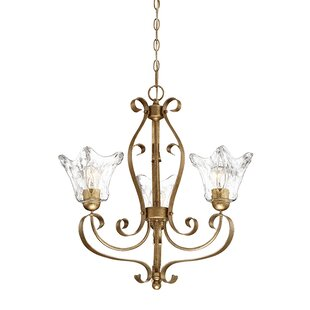 Fleur De Lis Living Whaley 3-Light Shaded Chandelier
