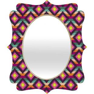 Deny Designs Bianca Aztec Diamonds Hammock Quatrefoil Accent Mirror