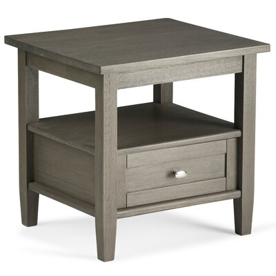 Alameda End Table with Storage Color: Farmhouse Gray by Alcott Hill