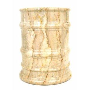 Nature Home Decor Sahara Beige Marble 4 Gallon Waste Basket