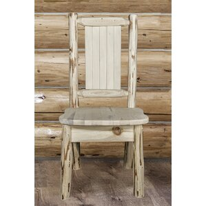 Abordale Natural/Unfinished Solid Wood Dining Chair by Loon Peak