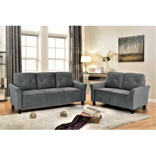Bargain Glasser 2 Piece Living Room Set by Charlton Home Reviews (2019) & Buyer's Guide