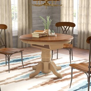 Agrihan Extendable Solid Wood Dining Table Loon Peak