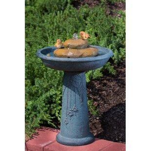 Alfresco Home Outdoor Birdbath