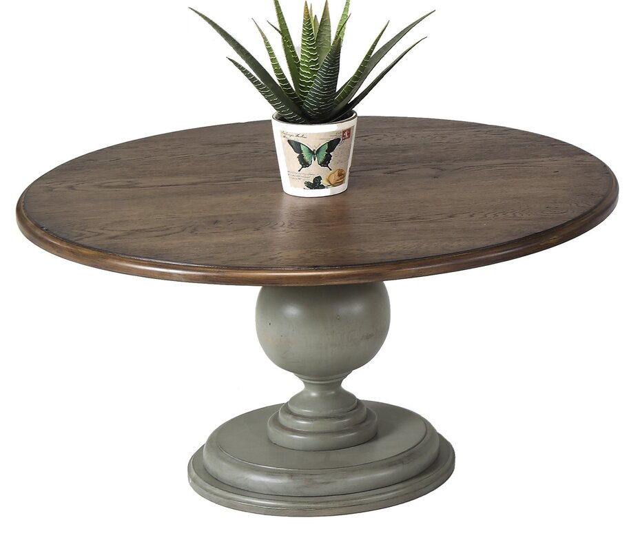 Marvelous Serpentaire Round Pedestal Coffee Table