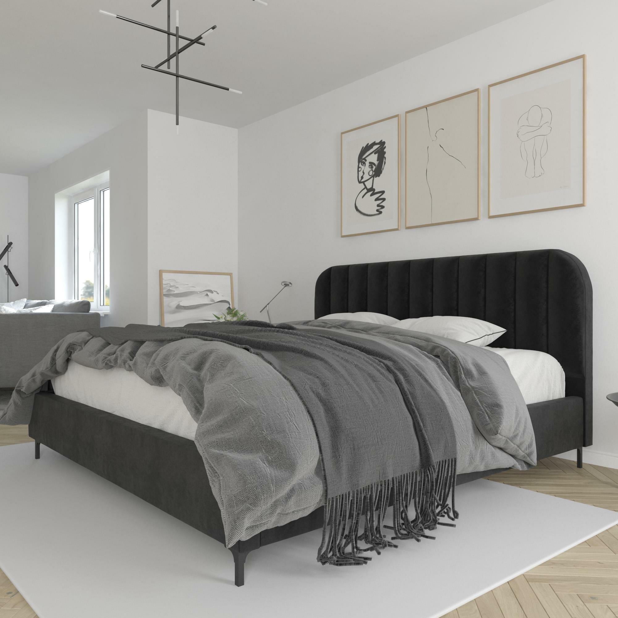 Mercer41 Perrine Upholstered Low Profile Platform Bed Reviews Wayfair Ca