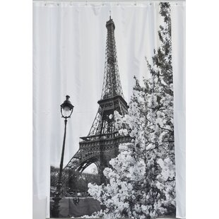 Paris City Printed Shower Curtain