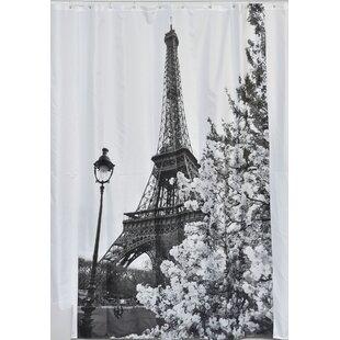 Paris City Printed Shower Curtain by Evideco