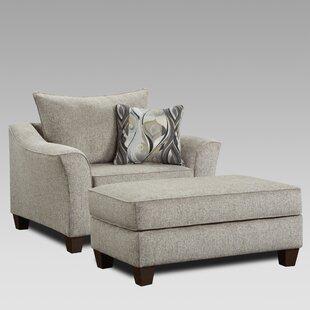 Driskill Arm Chair and Ottoman by Fleur De Lis Living