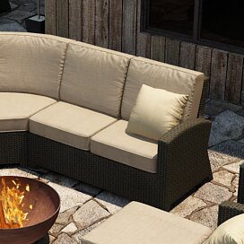 Barbados Right Arm Facing Sectional Loveseat with Cushions : right arm facing sectional - Sectionals, Sofas & Couches