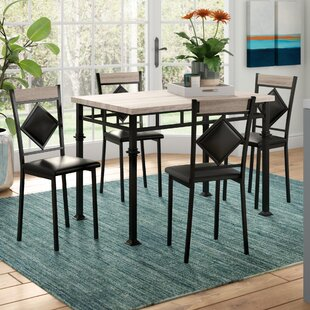 Tavarozzi 5 Piece Dining Set by Ebern Designs Great Reviews