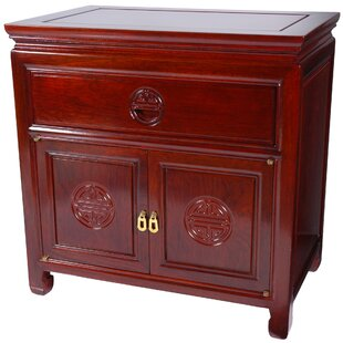 Affordable 1 Drawer Nightstand by Oriental Furniture