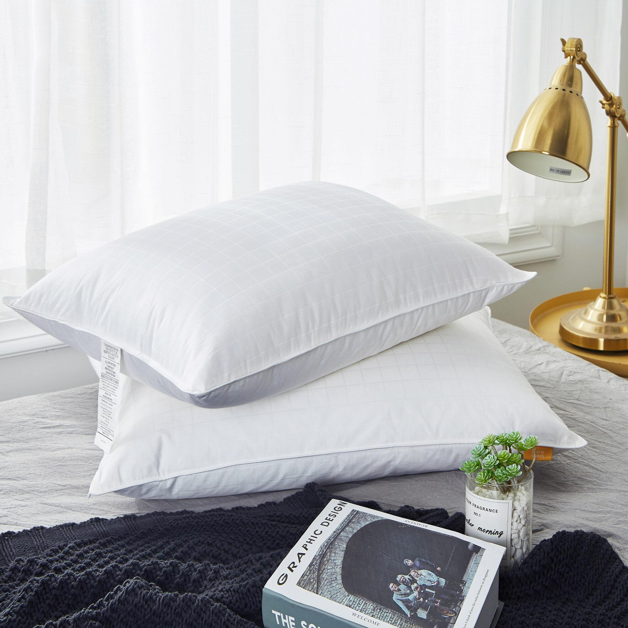 STANDARD SIZE MEDIUM PILLOW 95/% SIBERIAN DUCK DOWN BETTER THAN HOTEL QUALITY