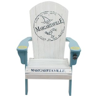 Margaritaville ?Fins to the Left? Solid Wood Adirondack Chair by Rio Brands