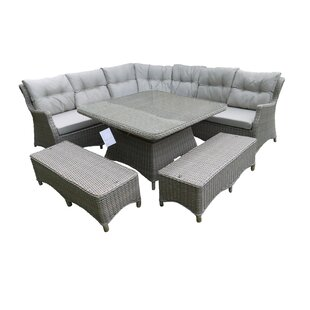 Read Reviews Houk 10 Seater Rattan Corner Sofa Set