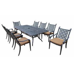 Darby Home Co Arness 12 Piece Black Dining Set and Lounge Set
