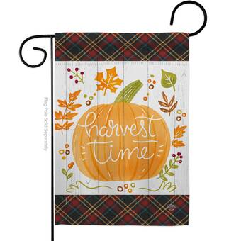 Ornament Collection Thanksgiving Leaves Impressions Decorative 2 Sided Polyester 19 X 13 In Garden Flag Wayfair