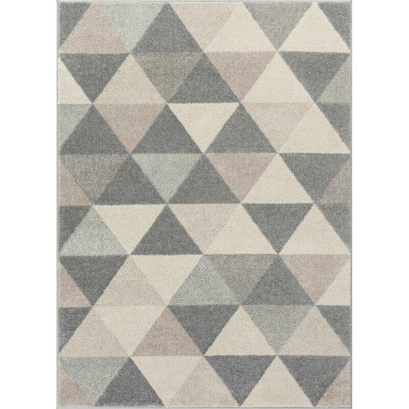 Well Woven Mystic Alvin Modern Vintage Geometric Gray Area Rug