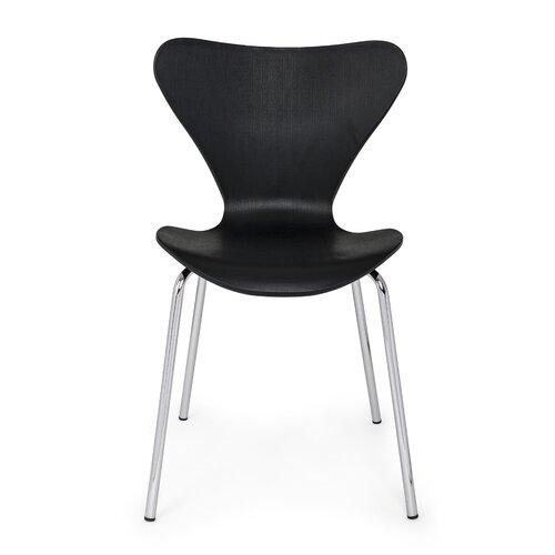 Winfrey Dining Chair (Set of 4) Metro Lane Colour: Black