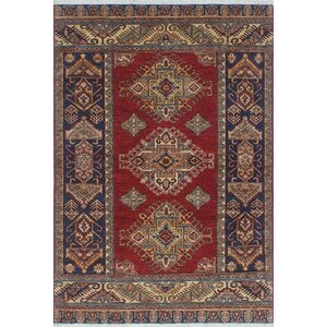 One-of-a-Kind Chanell Temur Hand-Knotted Wool Red Area Rug