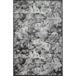 Reviews Emme Black/White Area Rug By17 Stories