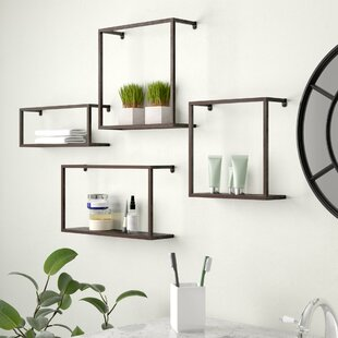 Kareem 4 Piece Wall Shelf Set